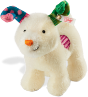 click to see Steiff  Mohair Snowdog in detail