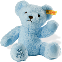 click to see Steiff  'my First Teddy Bear (blue) in detail