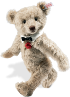 click to see Steiff  Mohair Musical Romantic Bear - Plays My Way! in detail