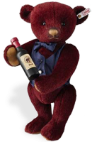 click to see Steiff  Sommelier Wine Waiter Teddy Bear in detail