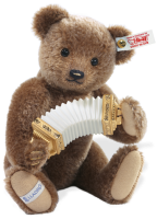 click to see Steiff  Lladro Musical Accordion Player. in detail