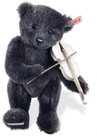click to see Steiff  Musical Bear & Lladro Violin Player in detail