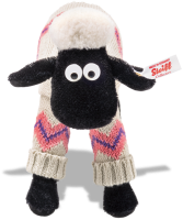 click to see Steiff Shaun The Sheep - In Smart Knitted Outfit in detail