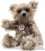 click to see Steiff  Grizzly Ted Cub Made From Finest Long Mohair in detail