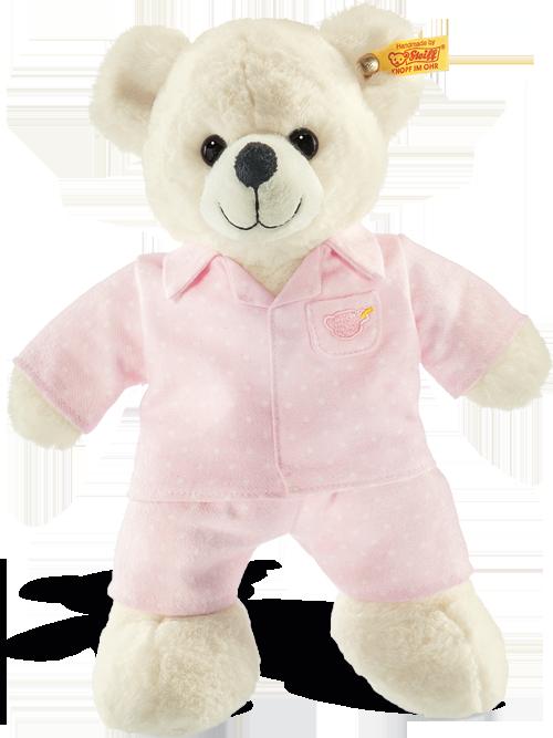 steiff baby lara teddy bear in pyjamas 110863. Black Bedroom Furniture Sets. Home Design Ideas