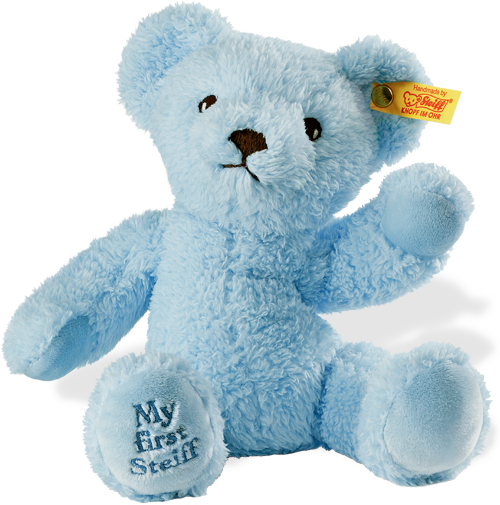 Steiff baby my first teddy bear blue 664724 free steiff gift box steiff bear 664724 altavistaventures Images